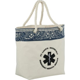 Cotton Canvas Americana Bandana Tote Bag