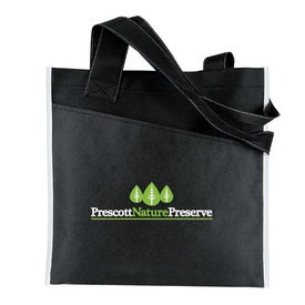 Angled Pocket Non Woven Tote with Your Slogan
