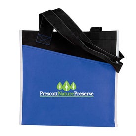 Imprinted Angled Pocket Non Woven Tote