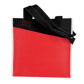 Branded Angled Pocket Non Woven Tote