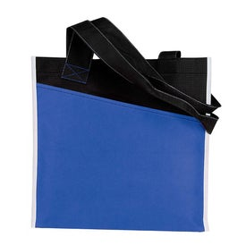 Angled Pocket Non Woven Tote Imprinted with Your Logo