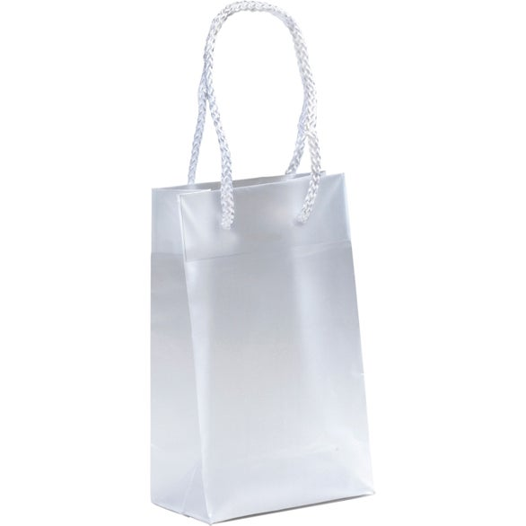 Frosted Clear Aries Frosted Plastic Tote Bag