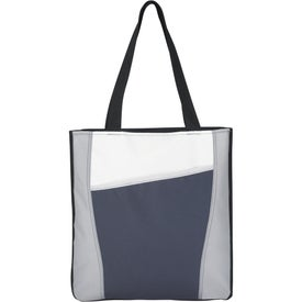 Monogrammed Color Accent Tote Bag