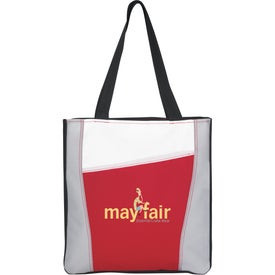 Color Accent Tote Bag with Your Slogan