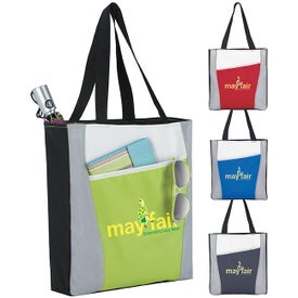 Color Accent Tote Bag Imprinted with Your Logo