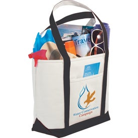 Personalized Atlantic Premium Cotton Boat Tote Bag