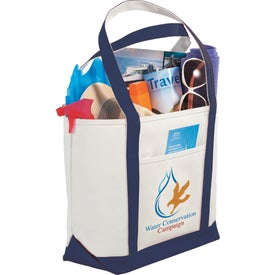 Logo Atlantic Premium Cotton Boat Tote Bag