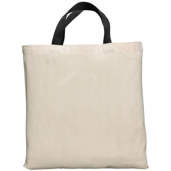 Natural / Black Bell-Ringer Tote Bag