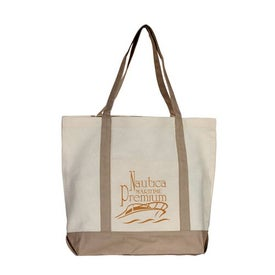 Advertising Boat Canvas Tote