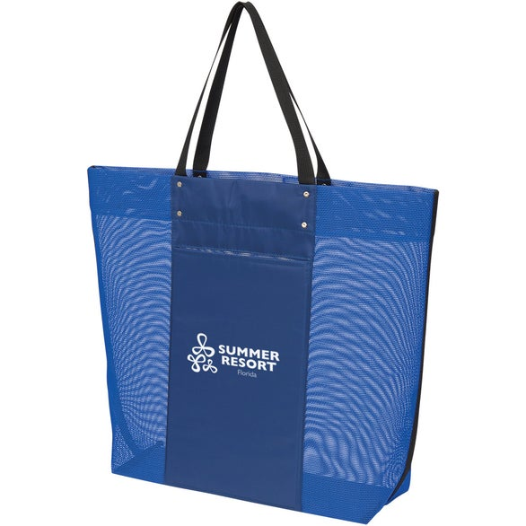 Royal Blue Breezy Mesh Tote Bag