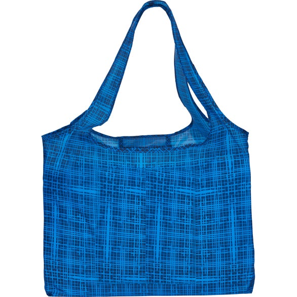 Blue Briarwood Packable Shopper Tote Bag