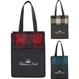 Buffalo Plaid NW Mini Gift Tote Bag