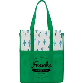 Cactus Laminated Shopper Tote Bags