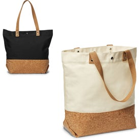 Canvas and Cork Shopper Tote Bag (12 Oz.)