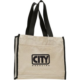 Canvas Gusset Tote Bag Printed with Your Logo