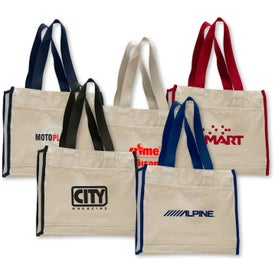 Customized Canvas Gusset Tote Bag
