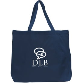 Canvas Jumbo Tote Bag Printed with Your Logo