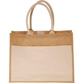 Canvas Pocket Jute Tote Bag
