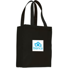 Printed Canvas Shopping Tote Bag