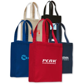 Branded Canvas Shopping Tote Bag