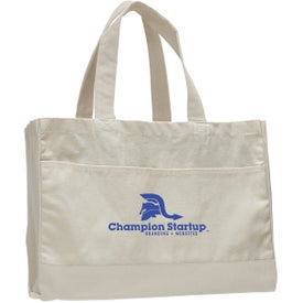 Canvas Standard Tote Bag with Your Slogan