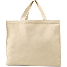 "Natural Canvas Tote Bag with 18"" Handles"