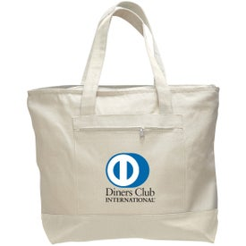 Canvas Zipper Tote Bag for Your Company