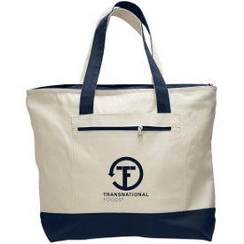 Customized Canvas Zipper Tote Bag
