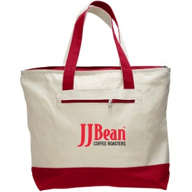 Canvas Zipper Tote Bag with Your Logo