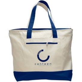 Canvas Zipper Tote Bag with Your Slogan