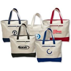 Company Canvas Zipper Tote Bag