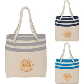 Capri Stripe Junior 8oz Cotton Canvas Rope Tote