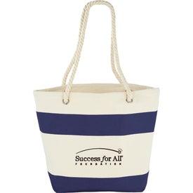 Printed Capri Stripes Cotton Shopper Tote Bag