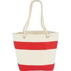 Branded Capri Stripes Cotton Shopper Tote Bag