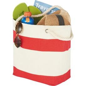 Capri Stripes Cotton Shopper Tote Bag with Your Logo