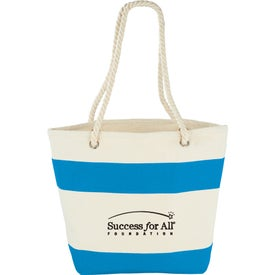 Capri Stripes Cotton Shopper Tote Bag