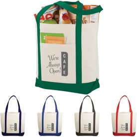 Casablanca Cotton Canvas Boat Tote Bags