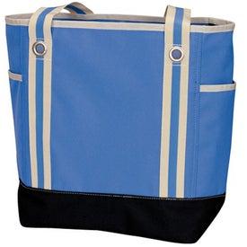Imprinted Catamaran Zip Tote Bag