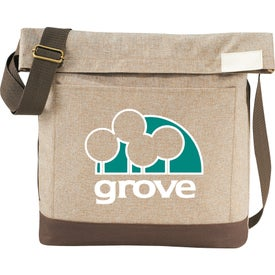 Personalized Chambray Foldover Tablet Tote Bag