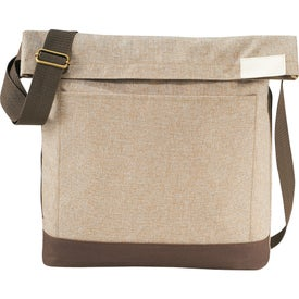 Chambray Foldover Tablet Tote Bag for Your Company