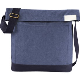 Promotional Chambray Foldover Tablet Tote Bag