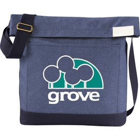 Chambray Foldover Tablet Tote Bag for Advertising