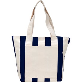 Chandler Cotton Canvas Zippered Tote Bag