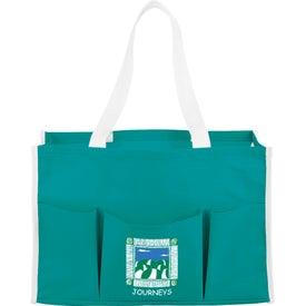 Printed Chevron Multi Purpose Tote Bag