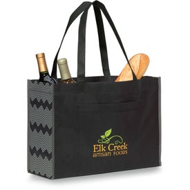 "Chevron Non-Woven Shopper Tote Bag (15.75"" x 12"" x 6"")"