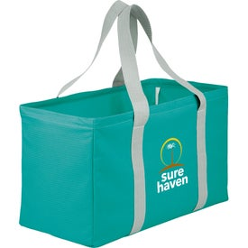Branded Chevron Oversized Carry All Tote Bag