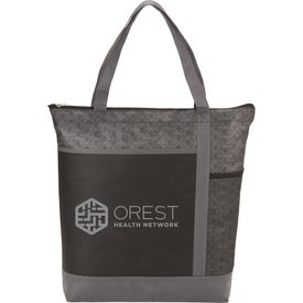 Chrome Non-Woven Zipper Convention Totes