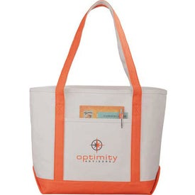 Branded Premium Heavy Weight Cotton Boat Tote