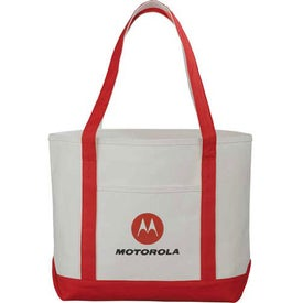Monogrammed Premium Heavy Weight Cotton Boat Tote