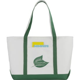 Personalized Premium Heavy Weight Cotton Zippered Boat Tote